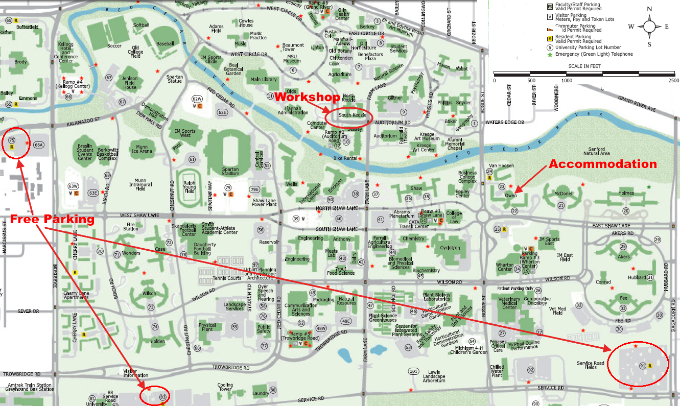 LONCAPA Summer Workshop - Interactive map msu